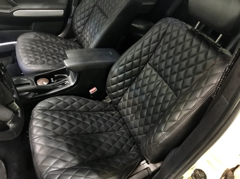 Перешив передних сидений с установкой обогрева в Mitsubishi Galant 9