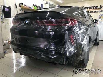 Антигравийная защита всего кузова полиуретановой плёнкой от SunTek BMW X6M COMPETITION