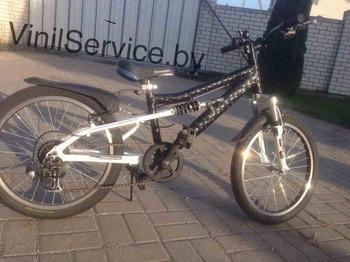 Оклейка велосипеда в пленку Ватер Куб