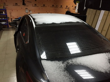 Снятие тонировки пяти окон в Mazda 6