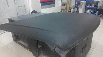 Оклейка капота AUDI 80 B3 в черную алмазную крошку