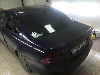 Съемная 5% тонировка  Mercedes Benz C200