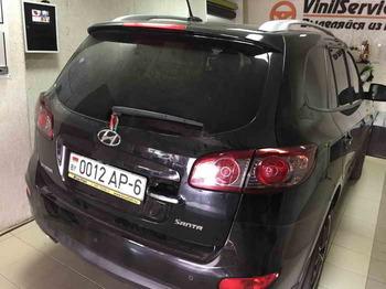Тонировка задней оптики Hyundai SantaFe