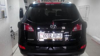 Тонировка задней оптики Hyundai SantaFe в черную 5% тонировку