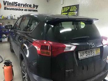 Снятие тонировки с удалением клея Toyota RAV4