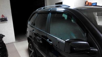 Съёмная 35% тонировка задних дверей BMW X5
