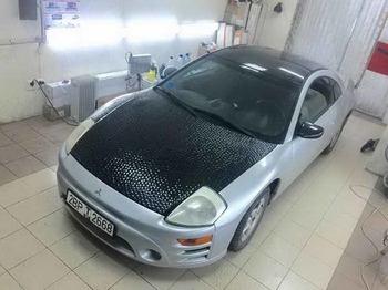 Оклейка капота в черный Ватер куб  Mitsubishi Eclipse