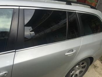 Съемная 25% тонировка задних окон в BMW 5