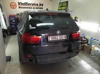 Тонировка задней оптики и полоса 15см на лобовое стекло BMW X5 e70