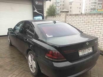 Съемная 25% тонировка 3 окон BMW 745LI