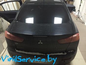 Снятие тонировки Mitsubishi Lancer
