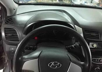 Оклейка торпеды в 3D Carbon. Hyundai Solaris